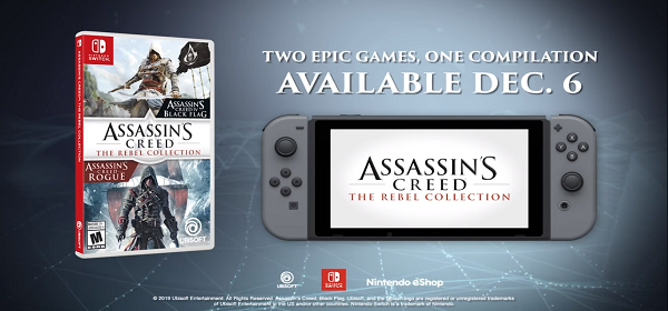 ASSASSIN'S CREED REBEL COLLECTION LLEGARÁ A NINTENDO SWITCH
