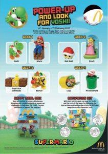 Juguetes de Mario de la Cajita Feliz de McDonald's