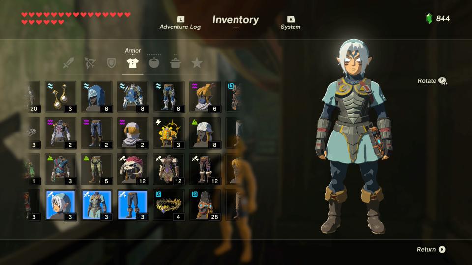 Link Zelda Breath of the Wild Nintendo Mundo N