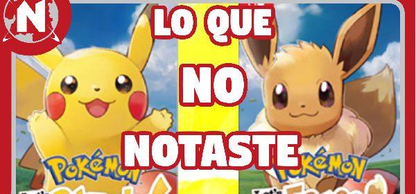 Análisis del trailer de Pokémon Let's Go PIkachu / Eevee