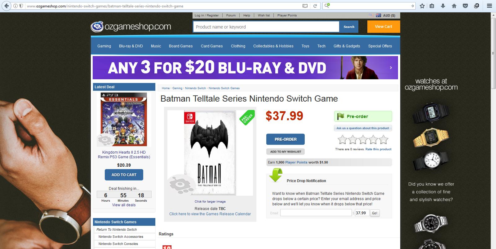 Batman the telltale series Switch Mundo N