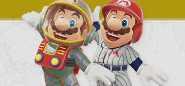 Traje y cascos de Satellaview y Baseball para Super Mario Odyssey